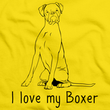 I Love My Boxer  Yellow Art Preview