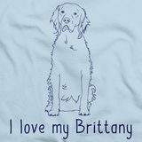 I Love My Brittany Light blue Art Preview