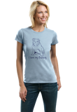 Ladies Light Blue I Love my Bulldog - Bulldog Breed Owner Parent Lover Cute T-shirt