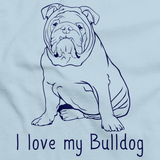 I Love My Bulldog Light blue Art Preview