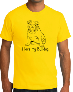 Standard Yellow I Love my Bulldog - Bulldog Breed Owner Parent Lover Cute T-shirt