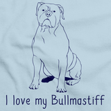 I Love My Bullmastiff Light blue Art Preview
