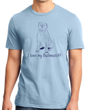 Standard Light Blue I Love my Bullmastiff - Bullmastiff Breed Owner Dog Lover Cute T-shirt