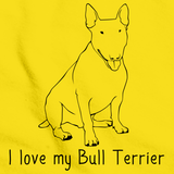 I Love My Bull Terrier Yellow Art Preview