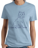 Ladies Light Blue I Love my Cairn Terrier - Cairn Terrier Dog Lover Owner Cute T-shirt