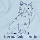 I Love My Cairn Terrier Light blue Art Preview