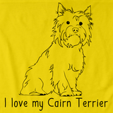 I Love My Cairn Terrier Yellow Art Preview