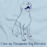 I Love My Chesapeake Bay Retriever Light blue Art Preview