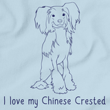 I Love My Chinese Crested Light blue Art Preview