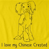 I Love My Chinese Crested Yellow Art Preview