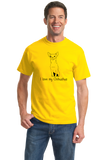 Standard Yellow I Love my Chihuahua - Chihuahua Dog Lover Owner Cute Fun Small T-shirt