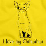 I Love My Chihuahua Yellow Art Preview