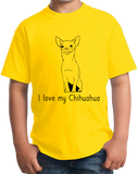 Youth Yellow I Love my Chihuahua - Chihuahua Dog Lover Owner Cute Fun Small T-shirt