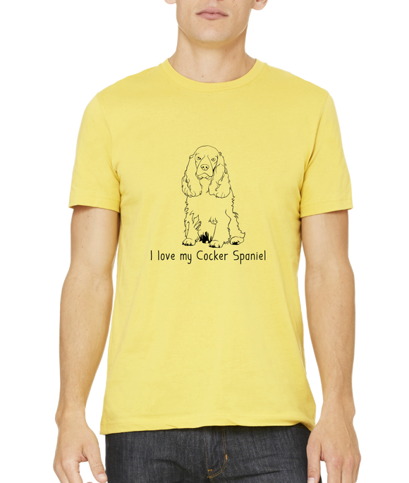 Standard Yellow I Love my Cocker Spaniel - Cocker Spaniel Dog Lover Owner Cute T-shirt