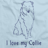 I Love My Collie Light blue Art Preview