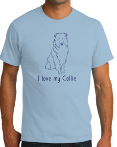 Standard Light Blue I Love my Collie - Collie Dog Breed Owner Lover Parent Cute Fun T-shirt