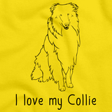 I Love My Collie Yellow Art Preview