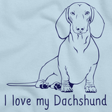 I Love My Dachshund Light blue Art Preview
