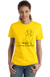 Ladies Yellow I Love my Dachshund - Weiner Dog Dachshund Love Owner Cute Fun T-shirt