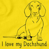 I Love My Dachshund Yellow Art Preview