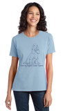 Ladies Light Blue I Love my English Cocker Spaniel - English Cocker Spaniel Love T-shirt