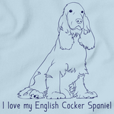 I Love My English Cocker Spaniel Light blue Art Preview