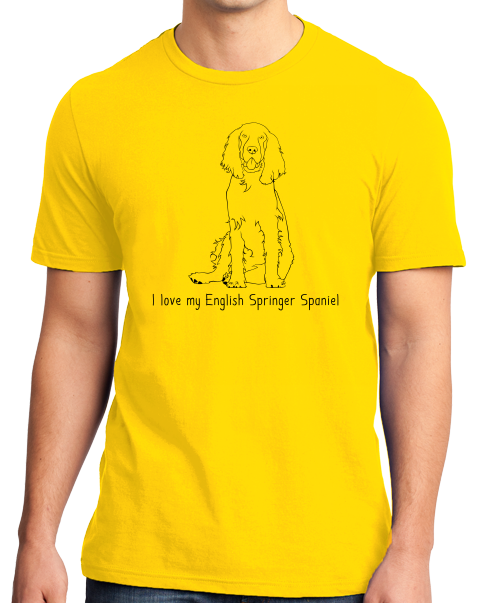 Standard Yellow I Love my English Springer Spaniel - English Springer Spaniel T-shirt