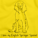 I Love My English Springer Spaniel Yellow Art Preview