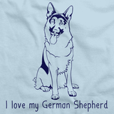 I Love My German Shepherd Light blue Art Preview