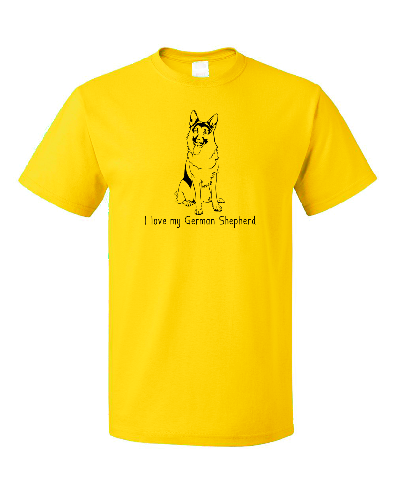 Standard Yellow I Love my German Shepherd - German Shepherd Owner Love Dog Gift T-shirt