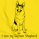 I Love My German Shepherd Yellow Art Preview