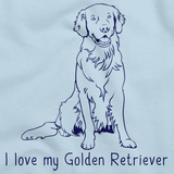 I Love My Golden Retriever Light blue Art Preview