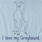 I Love My Greyhound Light blue Art Preview
