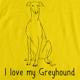 I Love My Greyhound Yellow Art Preview