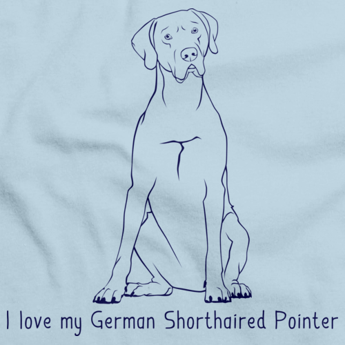 I Love My German Shorthaired Pointer Light blue Art Preview