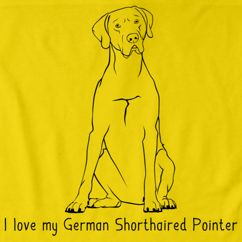 I Love My German Shorthaired Pointer Yellow Art Preview