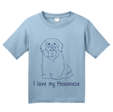 Youth Light Blue I Love my Havanese - Havanese Dog Owner Parent Lover Love Cute T-shirt