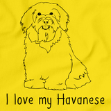 I Love My Havanese Yellow Art Preview