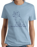 Ladies Light Blue I Love my King Charles Spaniel - King Charles Spaniel Owner Love T-shirt