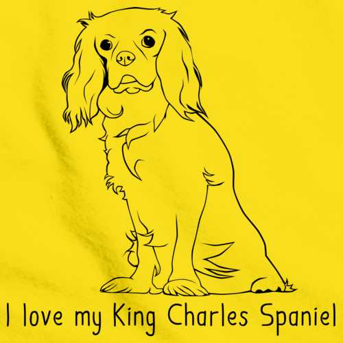I Love my King Charles Spaniel Yellow art preview