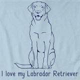 I Love My Labrador Retriever Light blue Art Preview