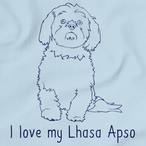 I Love My Lhasa Apso Light blue Art Preview