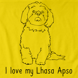 I Love My Lhasa Apso Yellow Art Preview