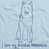 I Love My Alaskan Malamute Light blue Art Preview