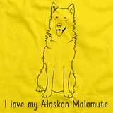 I Love My Alaskan Malamute Yellow Art Preview