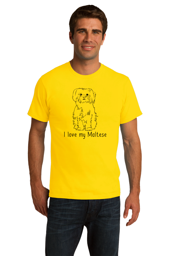 Standard Yellow I Love my Maltese - Maltese Cute Fluffy Dog Owner Lover Fun Gift T-shirt