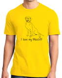 Standard Yellow I Love my Mastiff - Mastiff Dog Owner Lover Parent Cute Love T-shirt