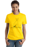 Ladies Yellow I Love my Miniature Pinscher - MinPin Owner Love Parent Cute Dog T-shirt