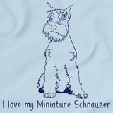 I Love My Minature Schnauzer  Light blue Art Preview