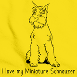 I Love My Minature Schnauzer  Yellow Art Preview
